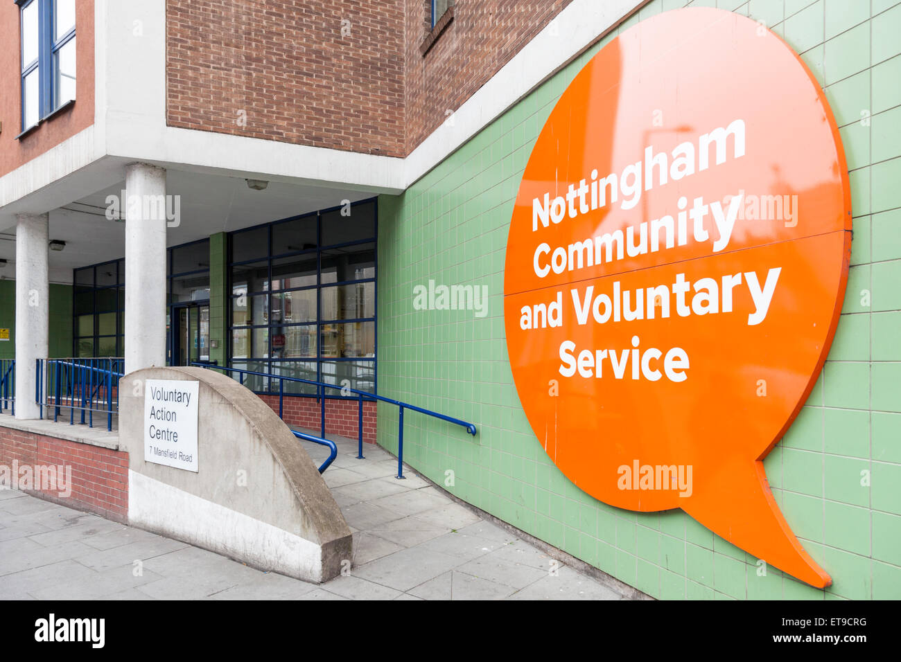 Nottingham Community and Voluntary Service, Voluntary Action Centre, Nottingham, England, UK - Stock Image