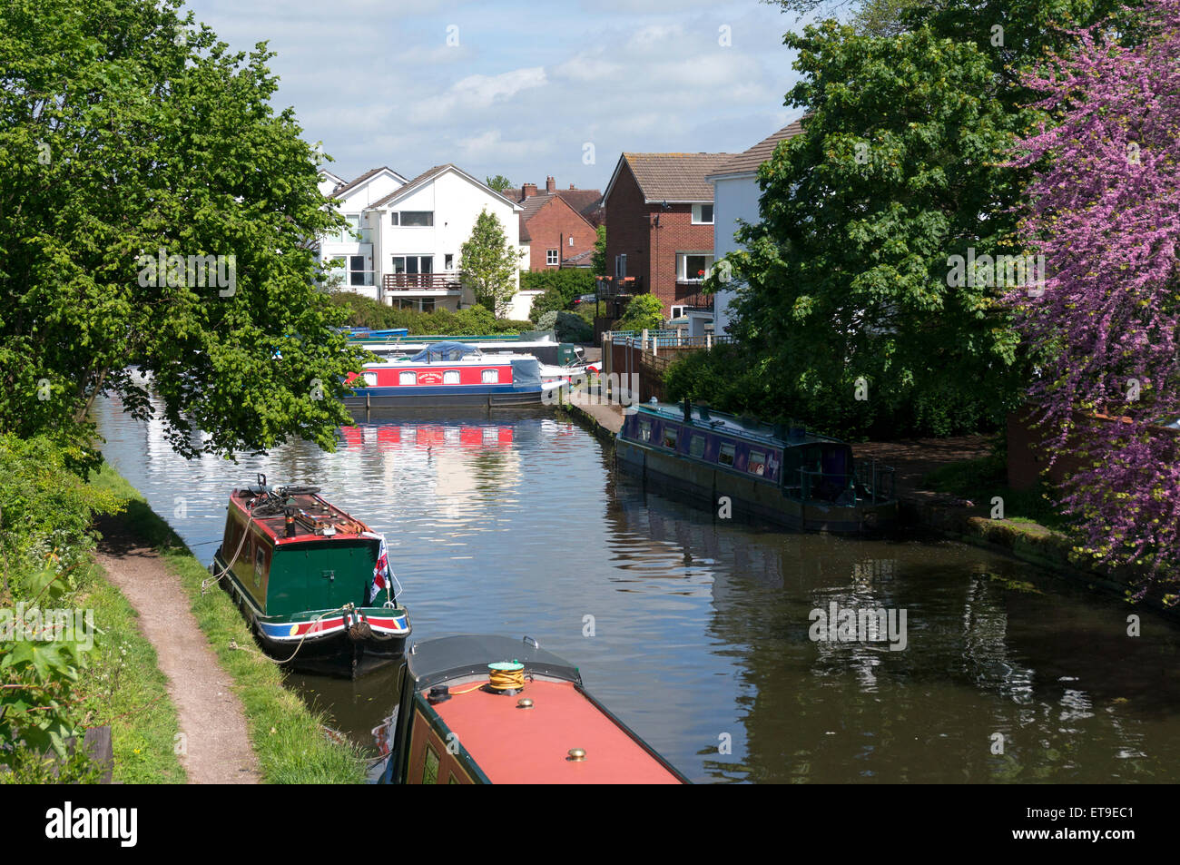 Bridgewater Canal at Stockton Heath, Cheshire - Stock Image