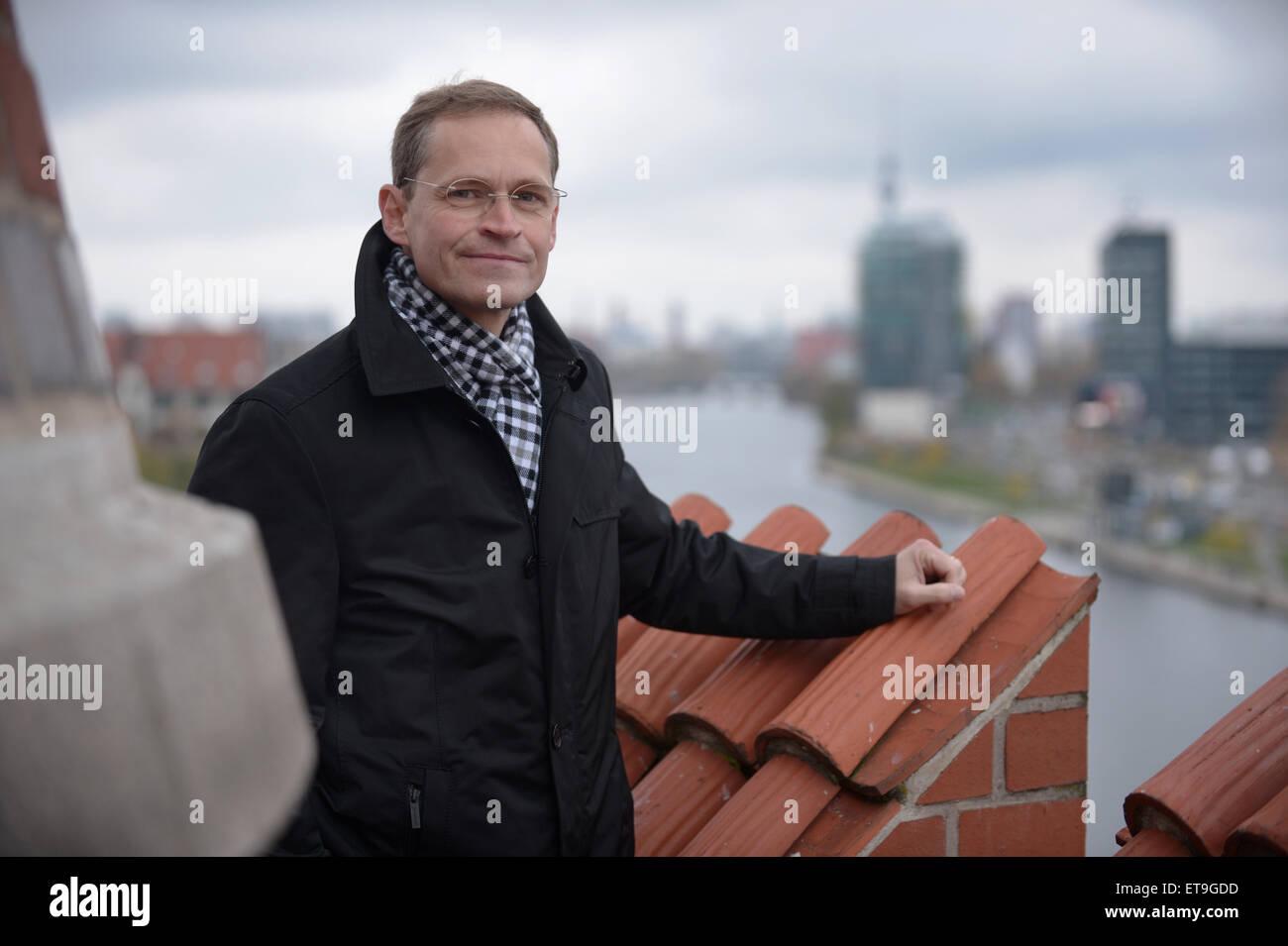 Berlin, Germany, urban development and designated Senator governing mayor Michael Mueller - Stock Image