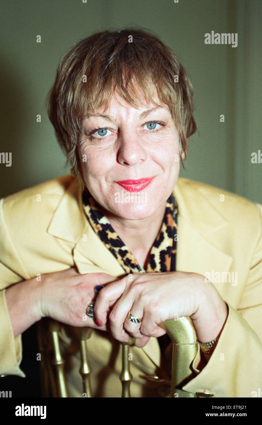 Author Sue Townsend. 27th October 1992. - Stock Image