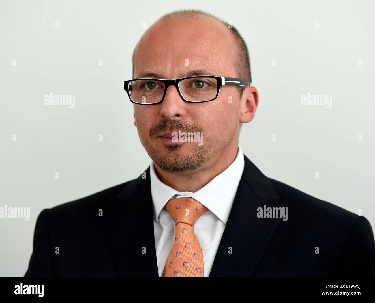 Frantisek Lukl, mayor of Kyjov and regional development minister in the former caretaker government of Jiri Rusnok, - Stock Image