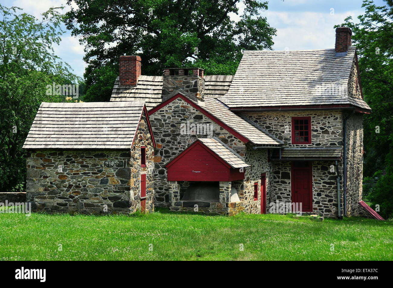 Chadds Ford, Pennsylvania: The Gideon Gilpin House used by the Marquis de Lafayette as his headquarters  * - Stock Image