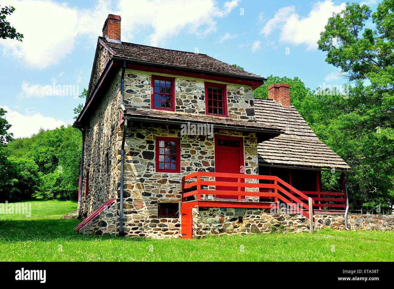 Chadds Ford, Pennsylvania:  The Gideon Gilpin House used by the Marquis de Lafayette's as his headquarters * - Stock Image