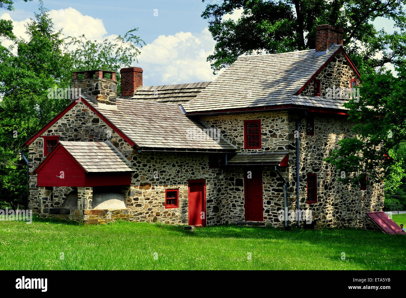 Chadds Ford, Pennsylvania:  The Gideon Gilpin House used as headquarters by the Marquis de Lafayette - Stock Image