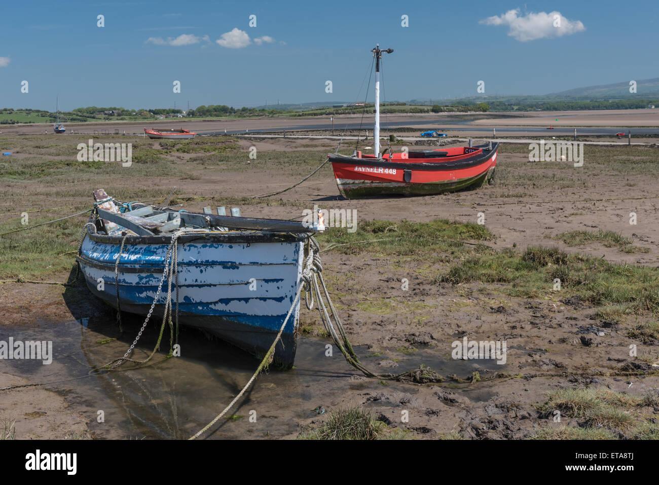Boats at Sunderland Point Stock Photo