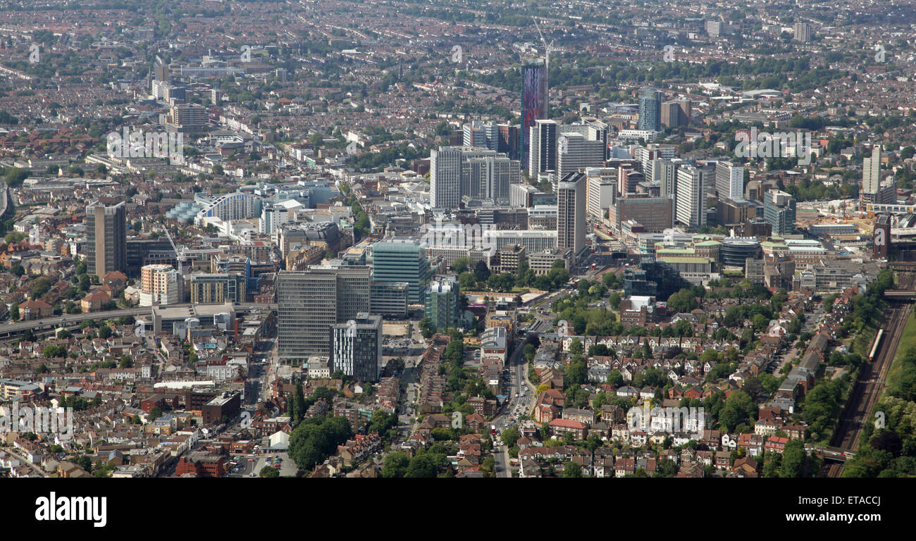 aerial view of Croydon in Greater London, UK - Stock Image