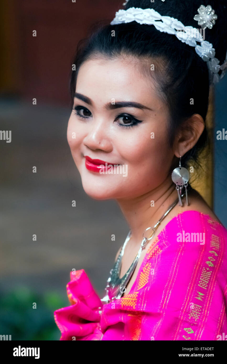 Asia. Thailand, Bangkok. Portrait of a young Thai girl. Stock Photo
