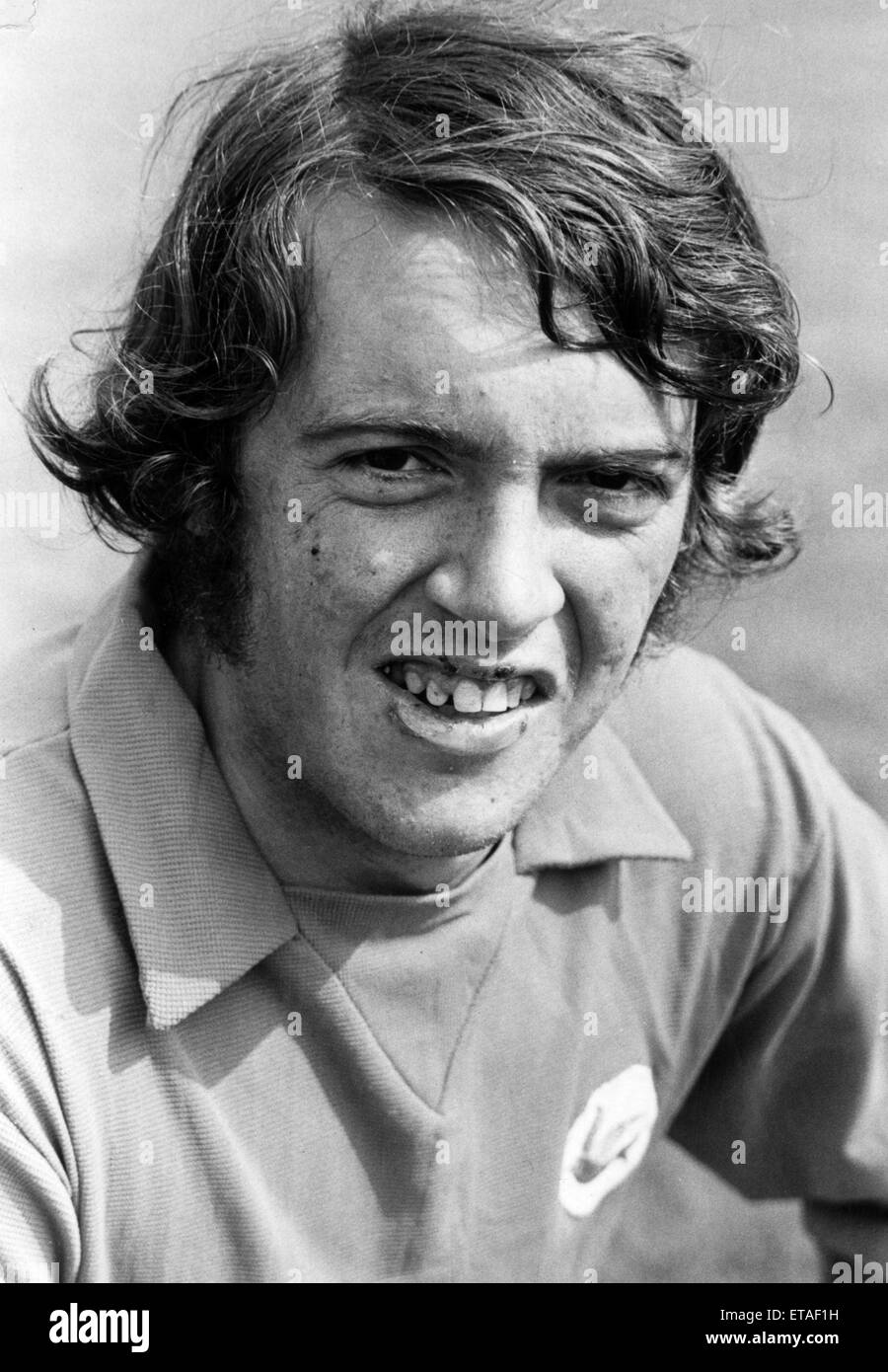 John Parsons, Cardiff City Football Player, 1968 - 1973. Pictured, 12th July 1971. - Stock Image