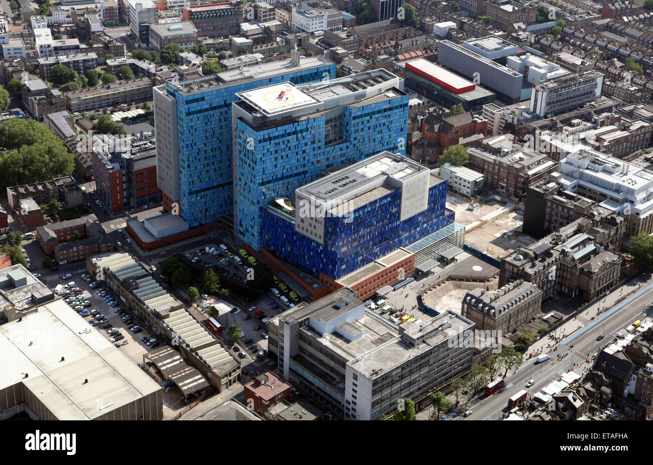 aerial view of The Royal London Hospital, UK - Stock Image