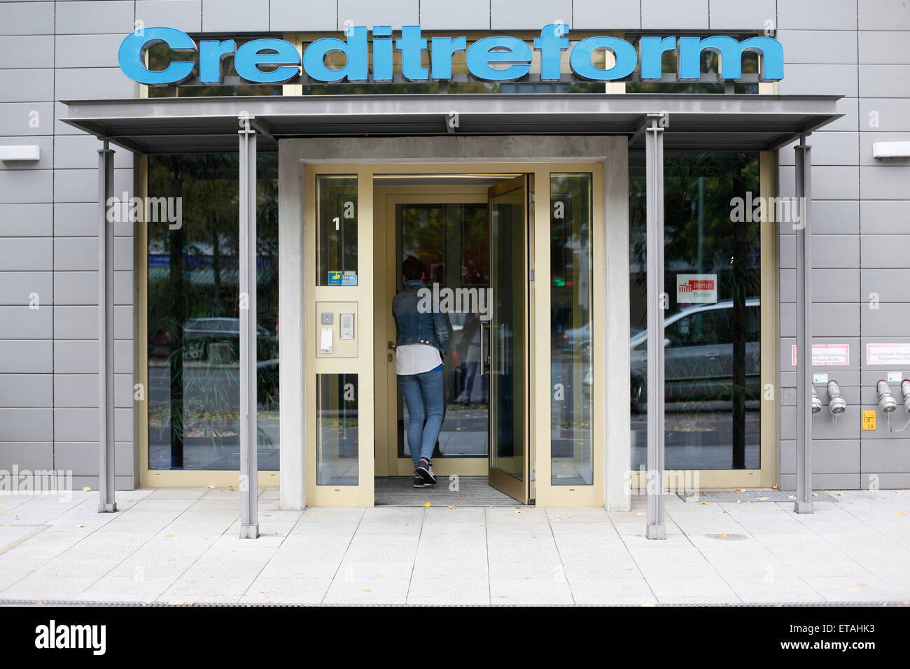 Berlin, Germany, Entrance Creditreform Berlin Wolfram KG - Stock Image