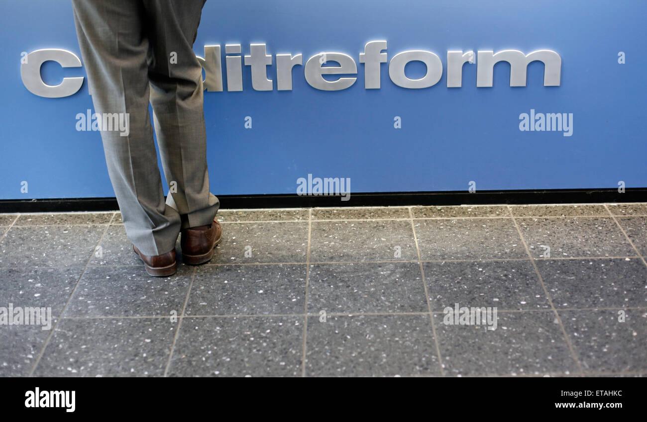 Berlin, Germany, lettering Creditreform - Stock Image