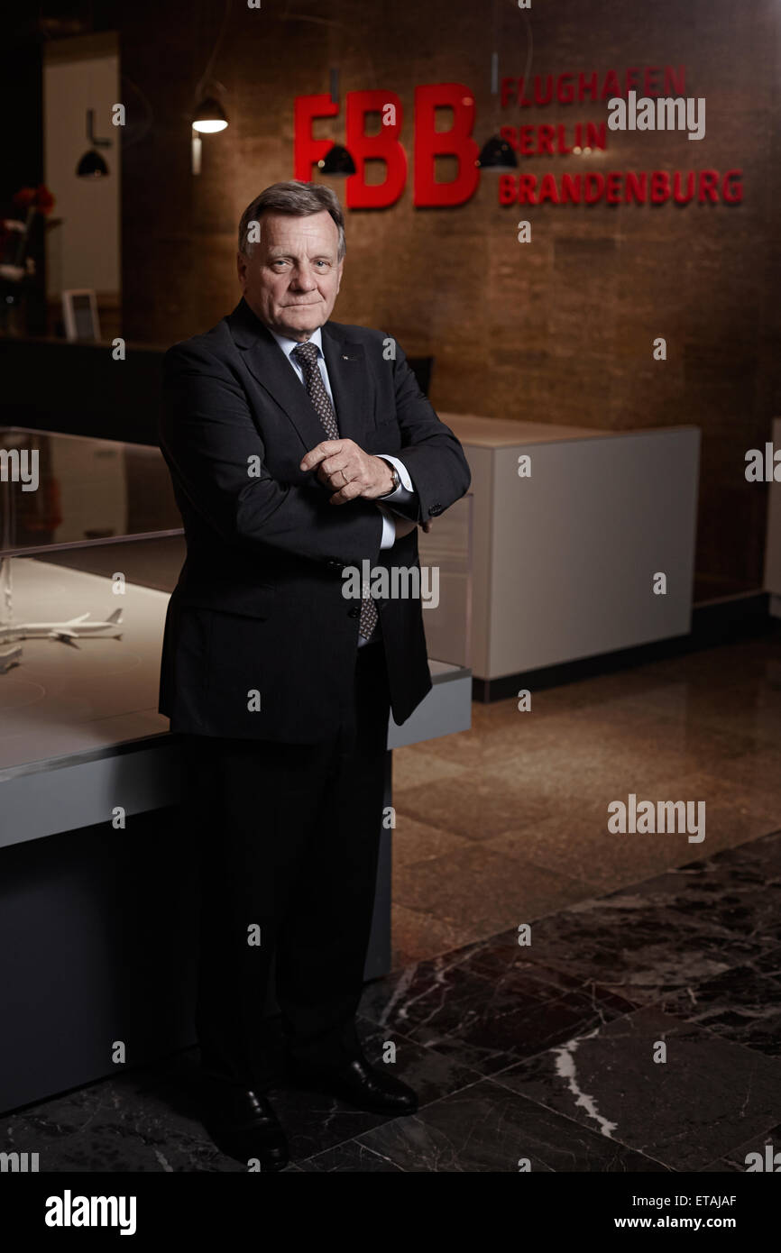 Schoenefeld, Germany, Hartmut Mehdorn, head of BER - Stock Image