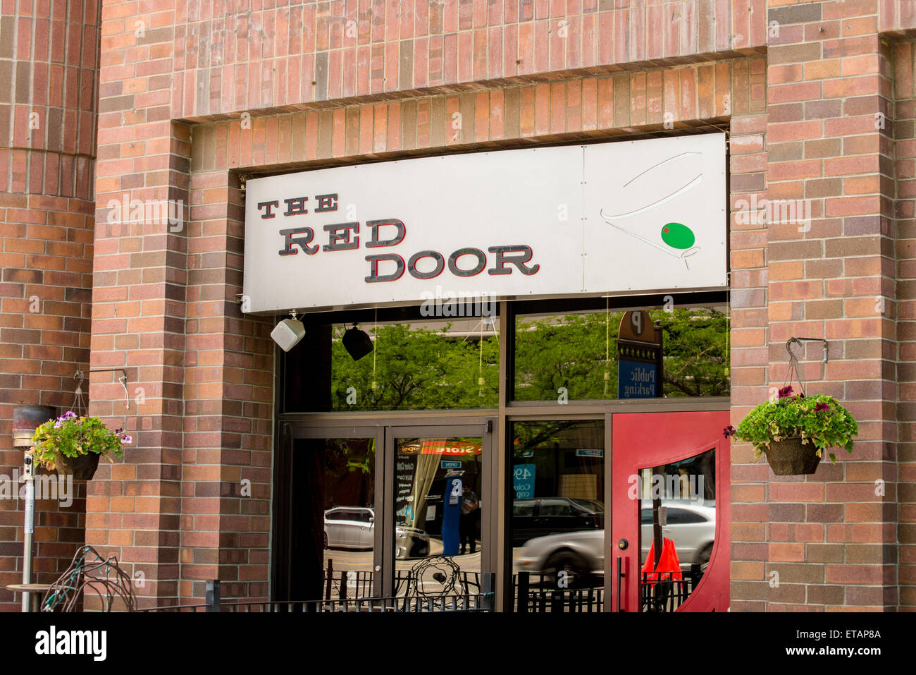 The Red Door Martini Bar   Salt Lake City, Utah   Stock Image