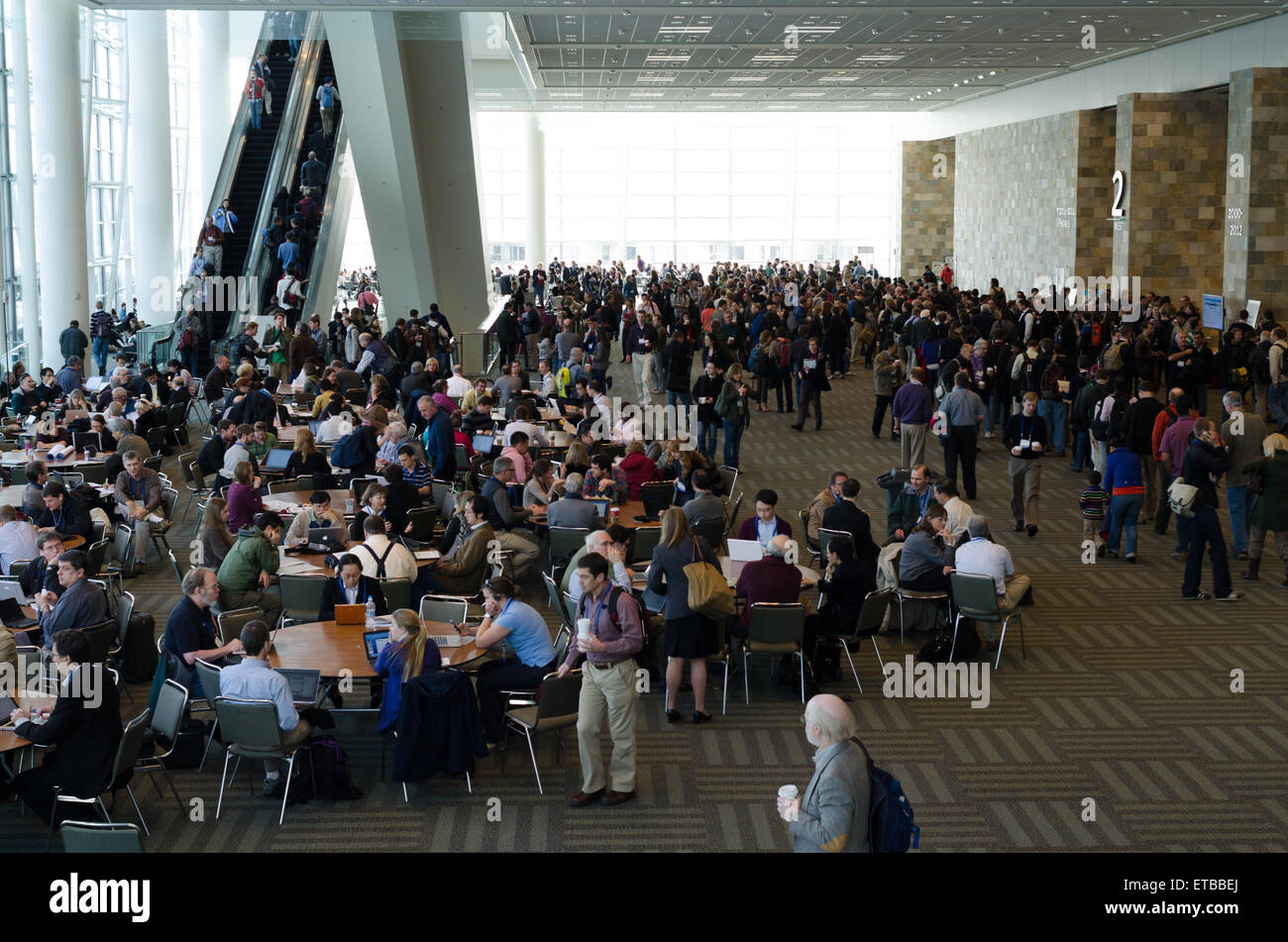 SAN FRANCISCO, USA, DECEMBER 8 2011. Internet break during geophysics conference, American Geophysical Union Fall - Stock Image