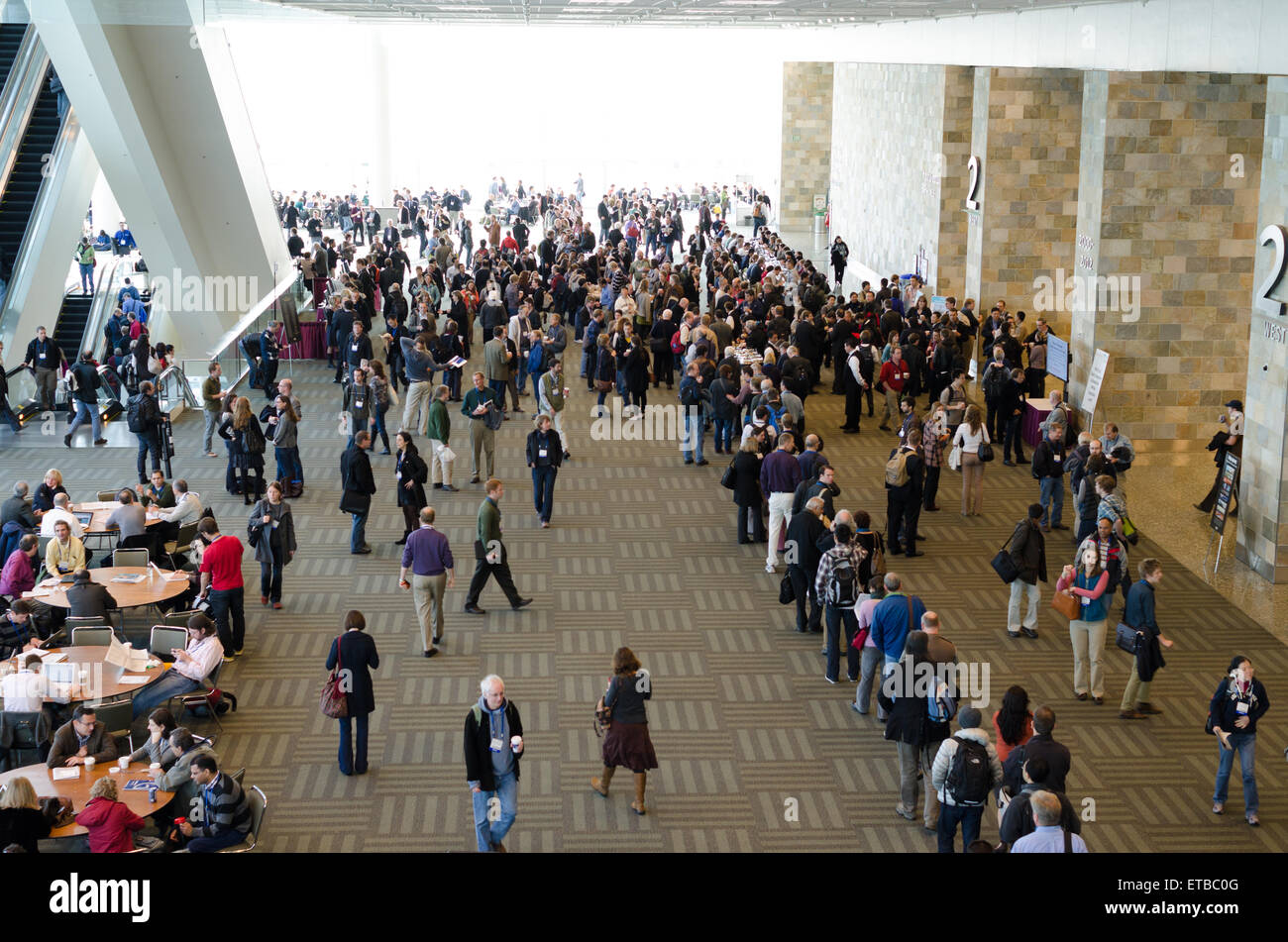 AN FRANCISCO, USA, DECEMBER 8 2011. cofee break during geophysics conference, American Geophysical Union Fall Meeting, - Stock Image