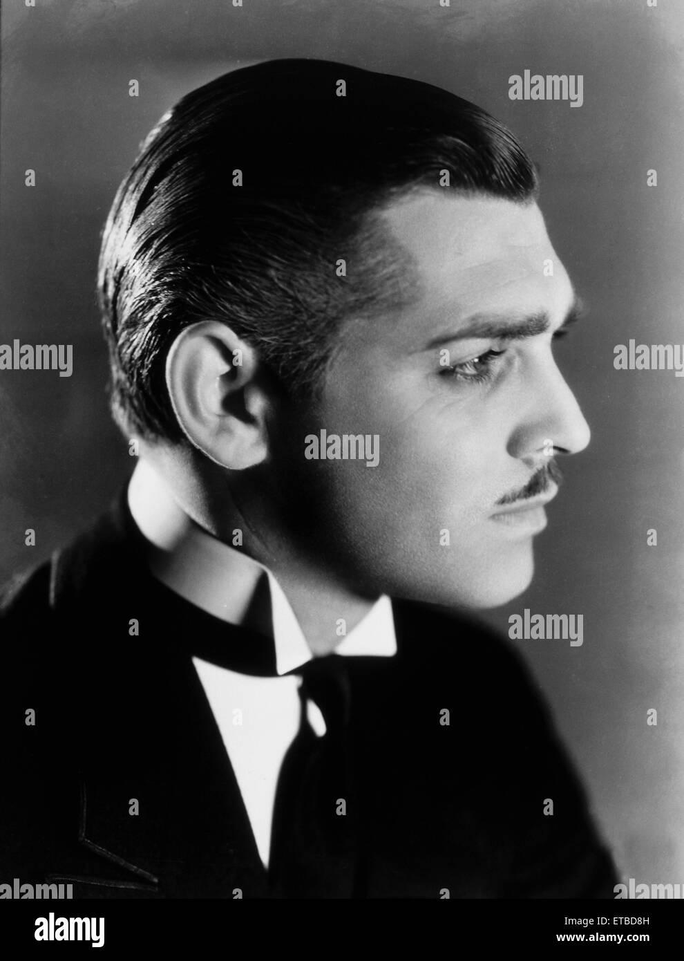 Clark Gable, Portrait, on-set of the Film 'Strange Interlude', 1932 - Stock Image