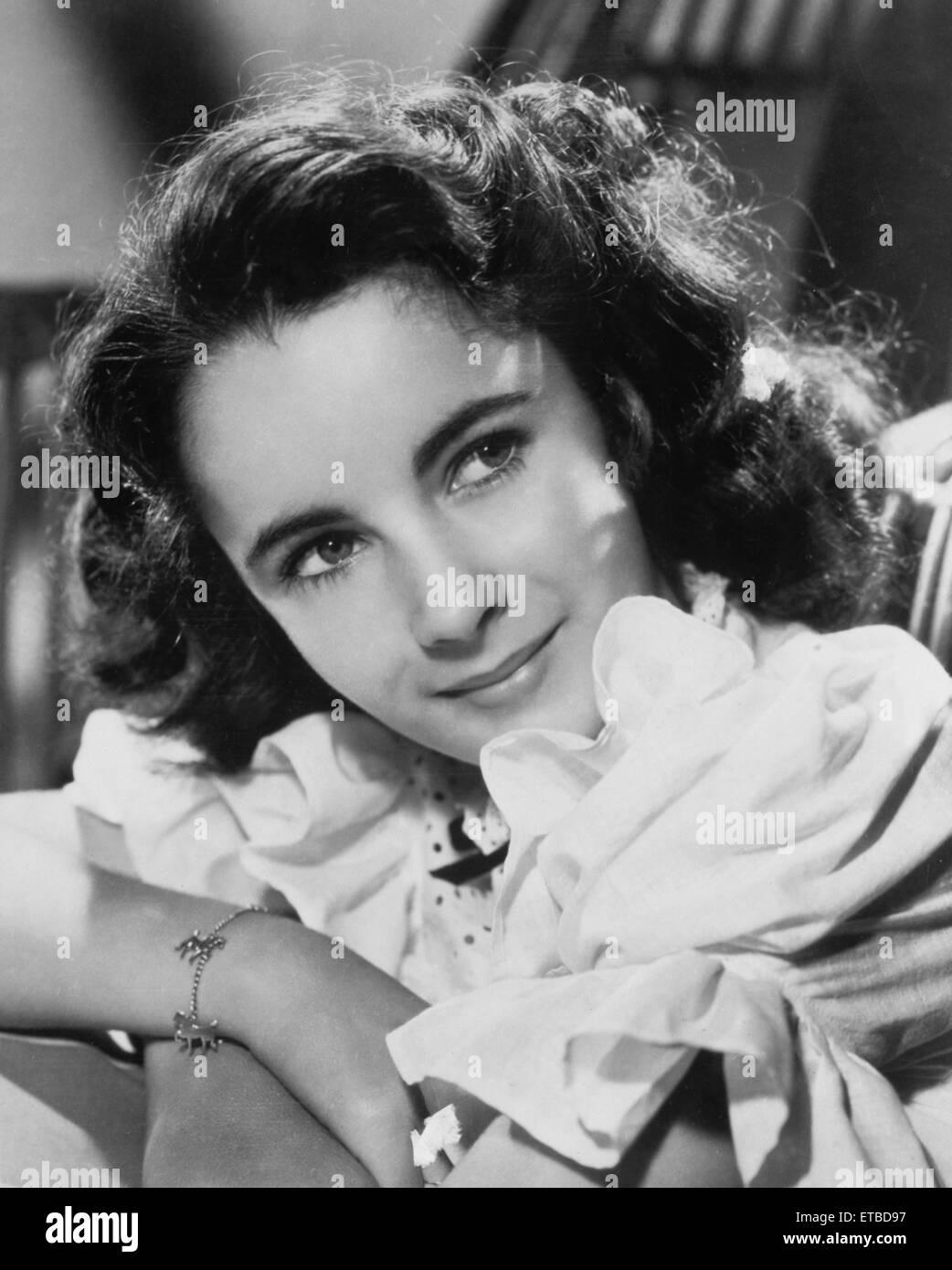 Actress Elizabeth Taylor, Publicity Portrait, 1944 - Stock Image