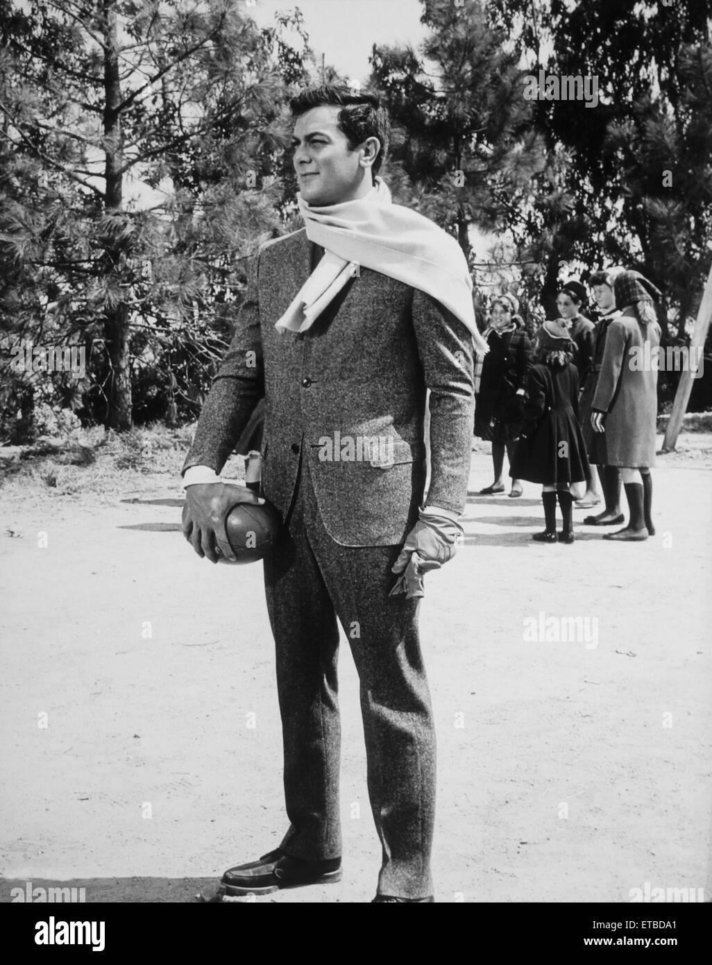 Tony Curtis, on-set of the Film 'The Great Impostor', 1961 - Stock Image
