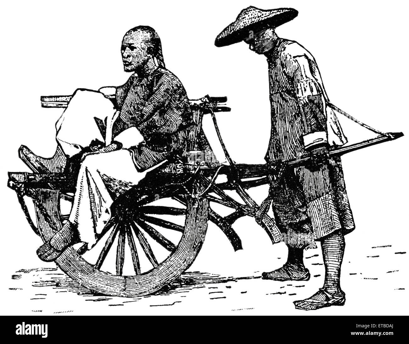 Convenient Form of Carriage in the Cities of China, 'Classical Portfolio of Primitive Carriers', by Marshall - Stock Image