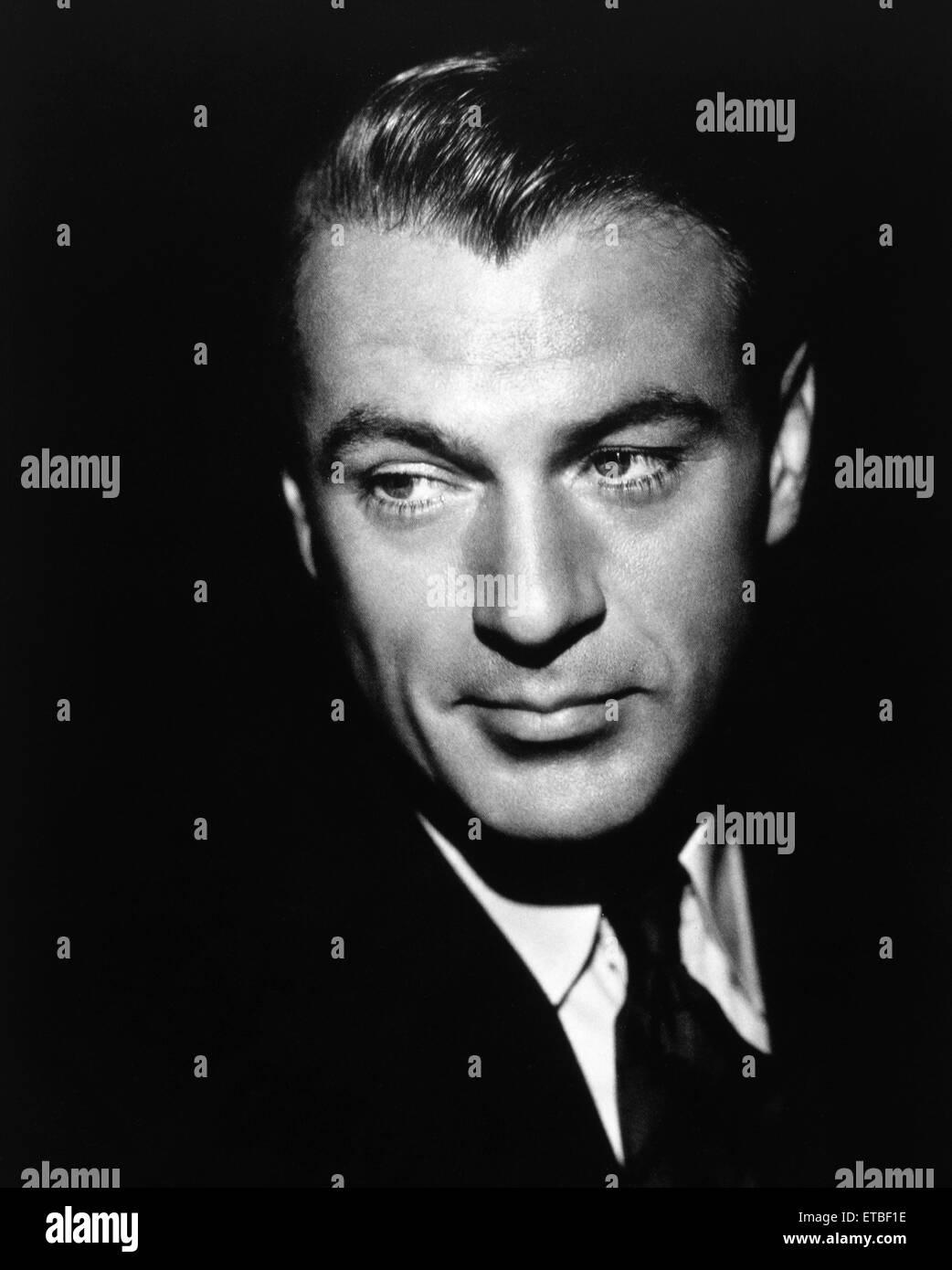 Actor Gary Cooper, Portrait, 1941 - Stock Image