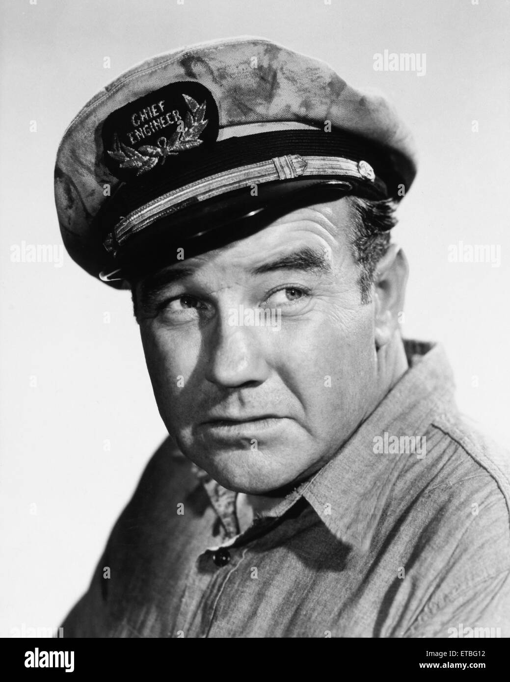 Broderick Crawford, Publicity Portrait for the Film 'Cargo to Capetown', 1950 - Stock Image