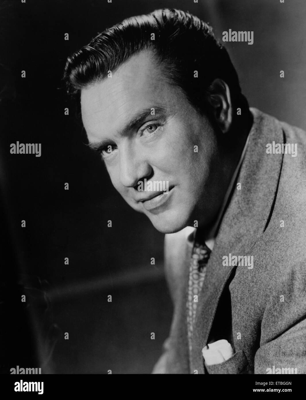Actor Edmond O'Brien, Portrait, 1956 - Stock Image