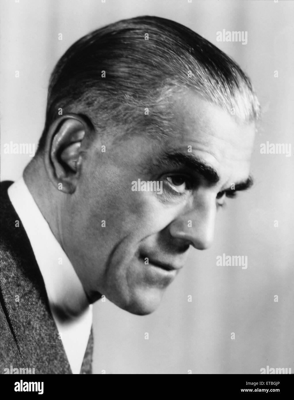 Actor Boris Karloff, Portrait, 1942 - Stock Image