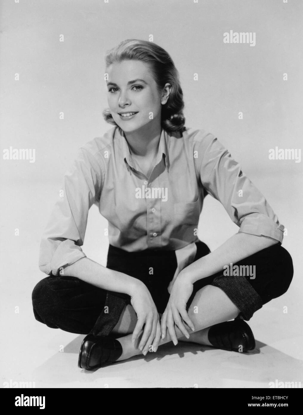 Actress Grace Kelly, Publicity Portrait in Casual Clothes, 1954 - Stock Image