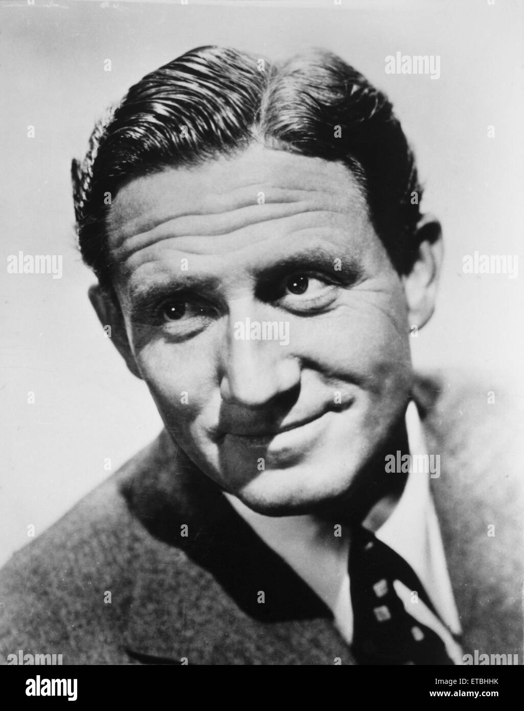 Actor Spencer Tracy, Publicity Portrait, circa 1940 Stock Photo
