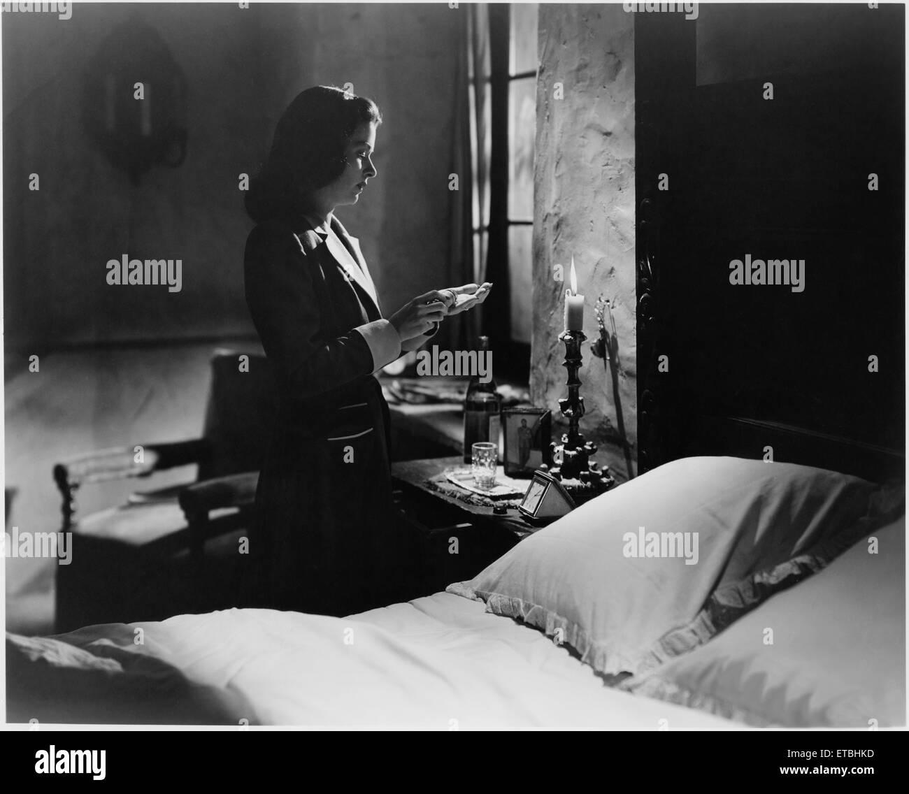 """Joan Bennett, on-set of the Film """"Secret Beyond the Door"""", 1947 - Stock Image"""