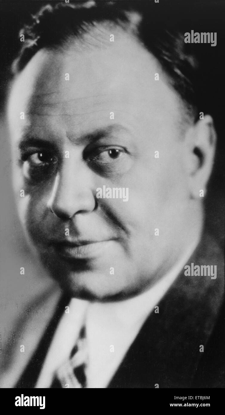 Actor Emil Jannings, Portrait, circa 1920's - Stock Image