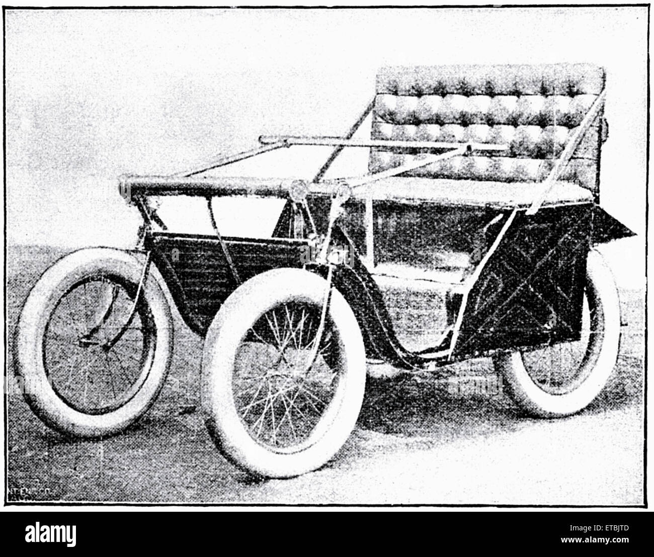 Victoria Motorette, Racine Motor Vehicle Company, circa 1895 - Stock Image