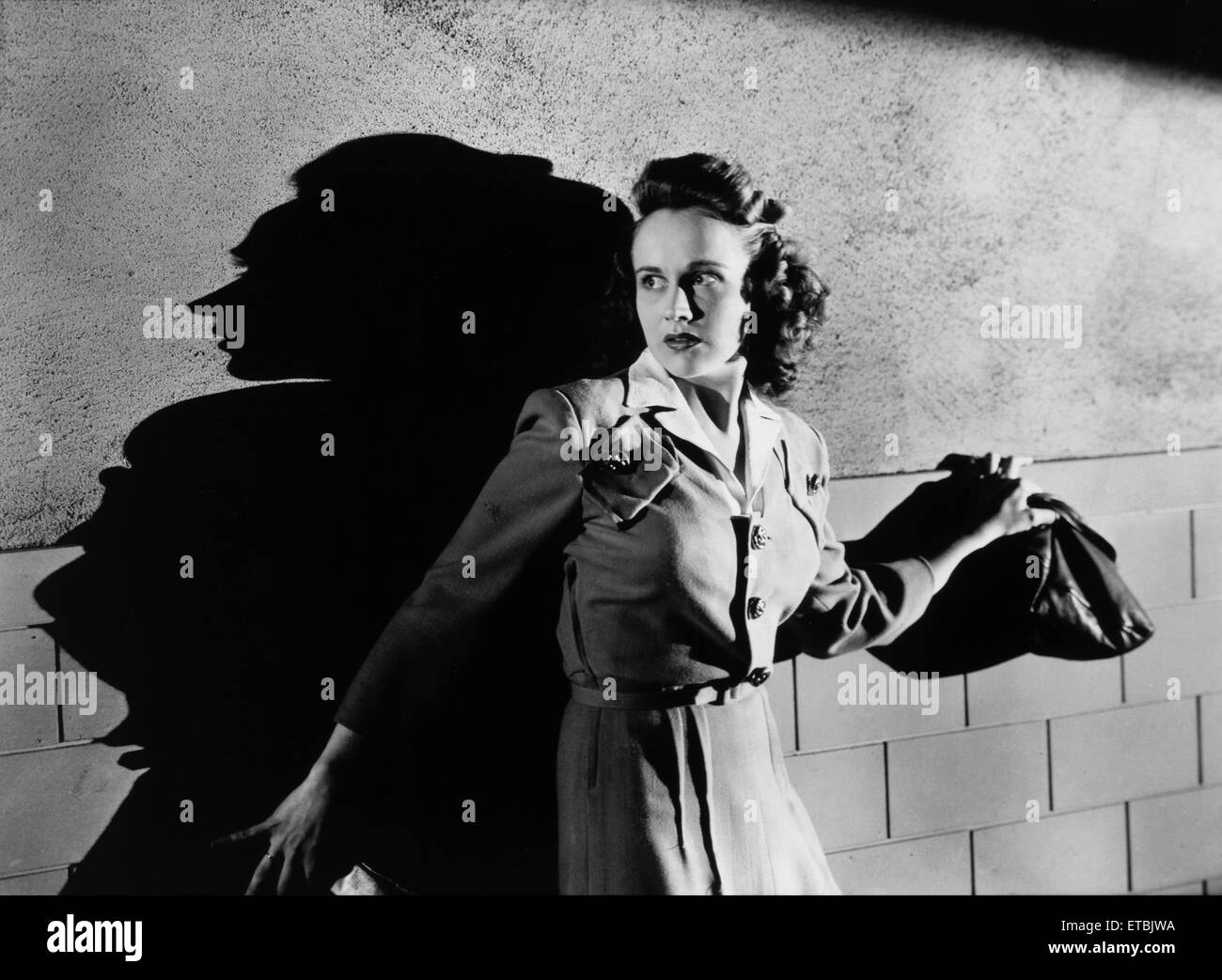Kim Hunter, on-set of the Film 'When Strangers Marry', 1944 - Stock Image