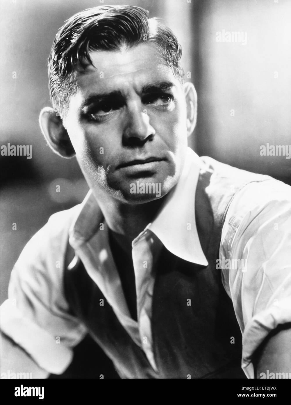 Clark Gable, Portrait, on-set of the Film 'Red Dust', 1932 - Stock Image