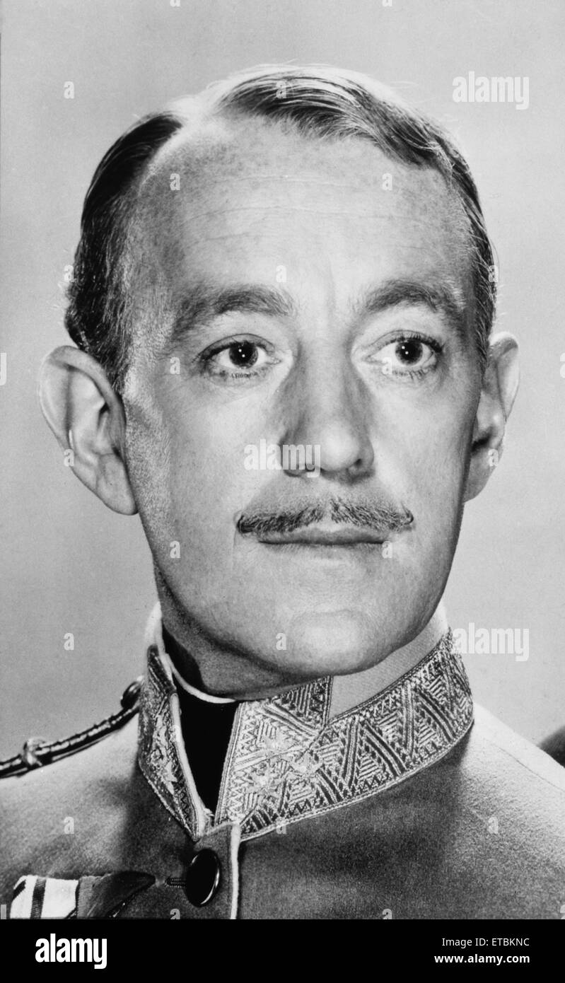 Alec Guinness, Portrait from the Film 'The Swan', 1956 - Stock Image