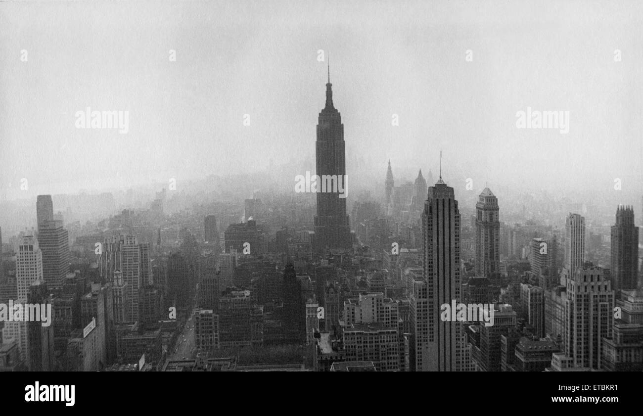 Skyline, New York City, USA, circa 1950 Stock Photo