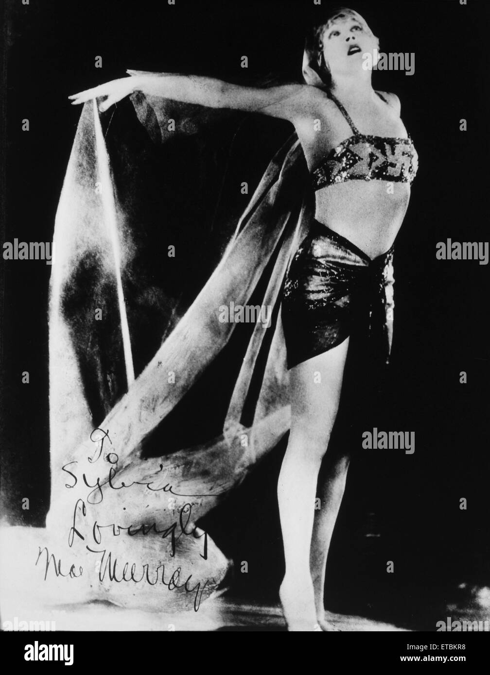 Actress Mae Murray, Publicity Portrait, 1921 - Stock Image
