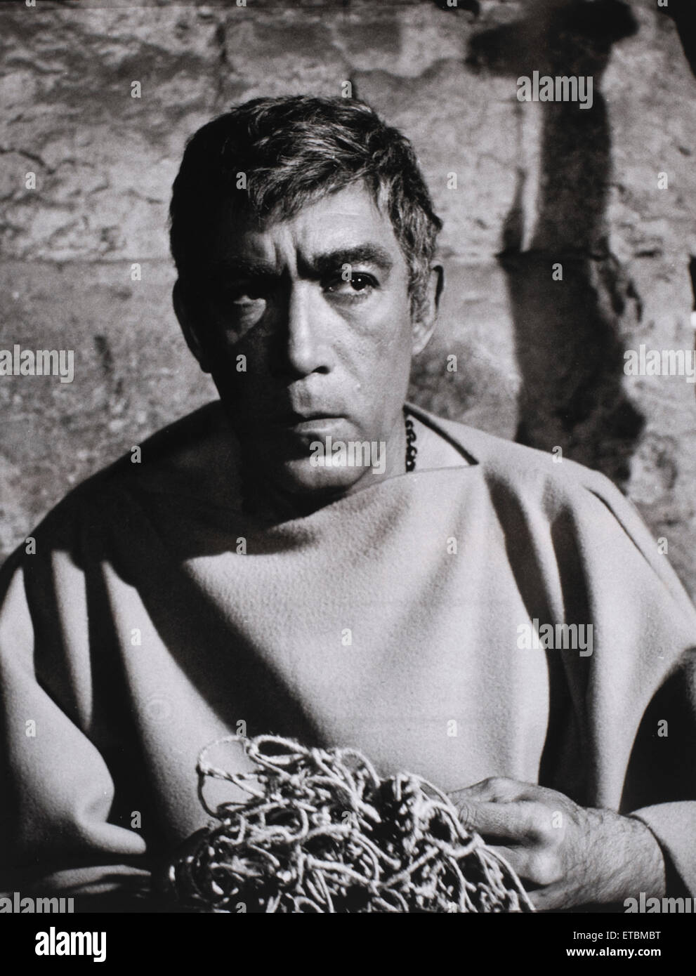 Anthony Quinn, on-set of the Film 'Barabbas', 1961 - Stock Image