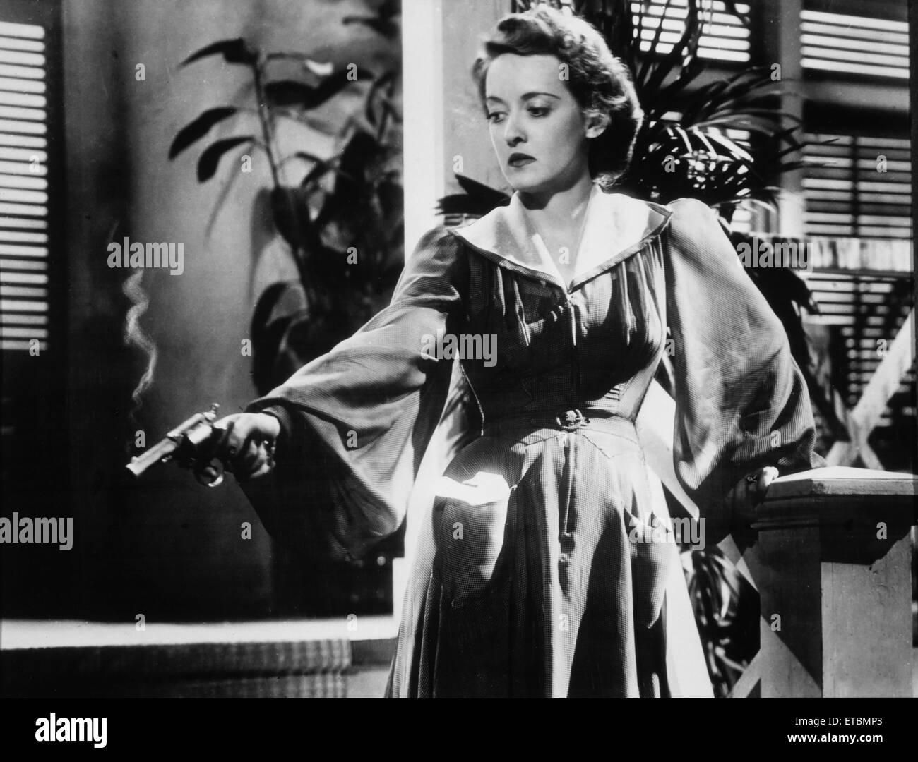 Bette Davis on set of the
