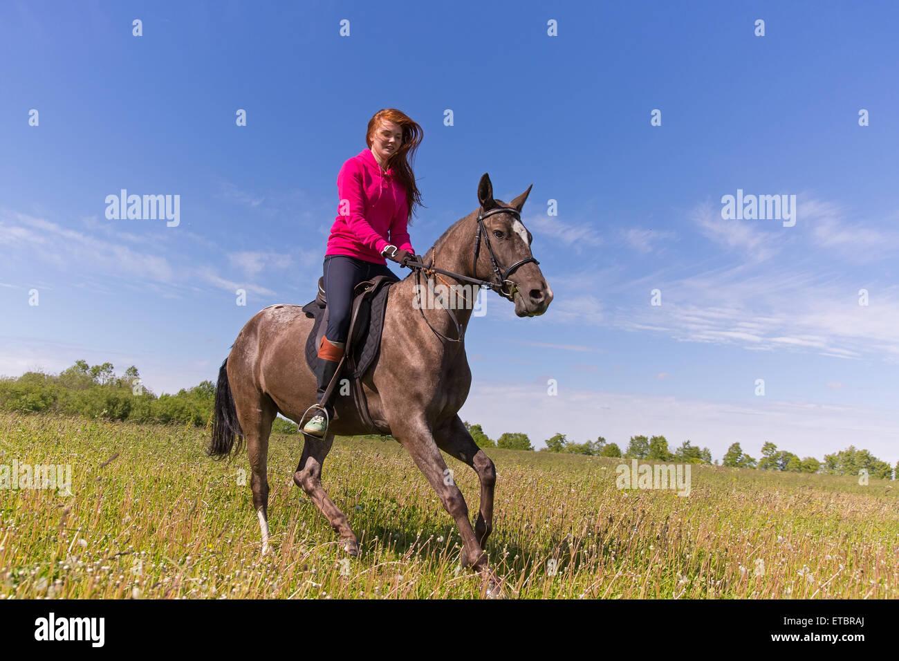 redhead riding