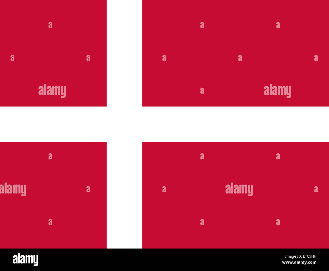 Official Flag of Denmark Flat Large Size Horizontal - Stock Image
