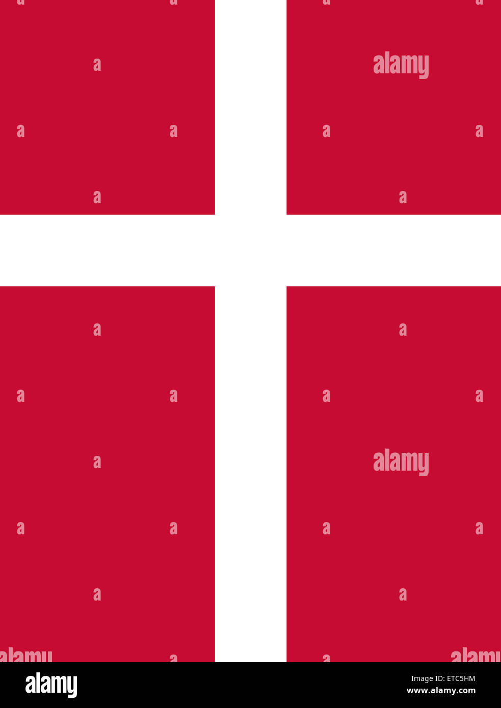 Official Flag of Denmark Flat Large Size Vertical - Stock Image