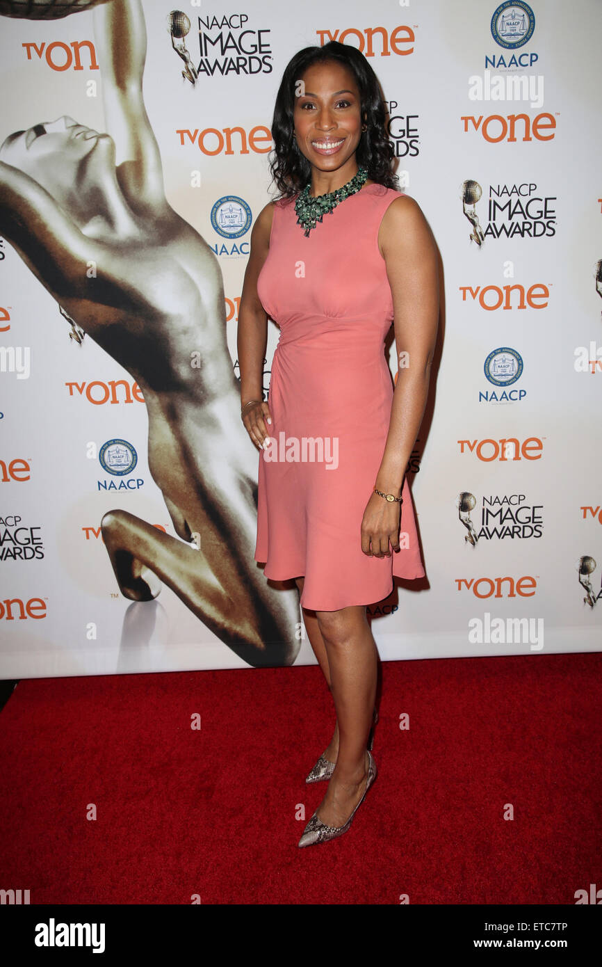 46th NAACP Image Awards at The Beverly Hilton - Arrivals  Featuring: Sharon Brathwaite Where: Los Angeles, California, Stock Photo