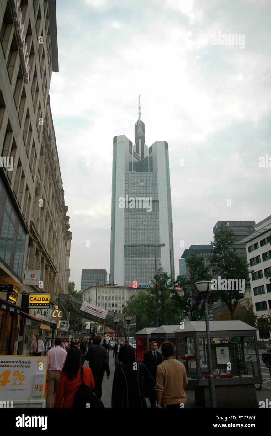 Commerzbank Zentrale, Frankfurt. - Stock Image