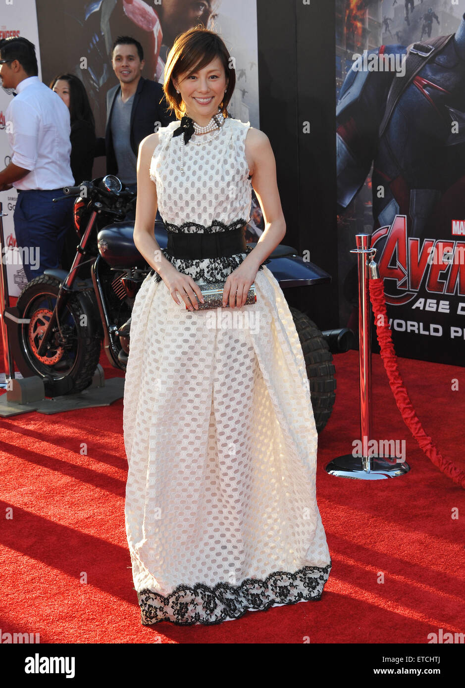 LOS ANGELES, CA - APRIL 13, 2015: Ryoko Yonekura at the world premiere of 'Avengers: Age of Ultron' at the - Stock Image