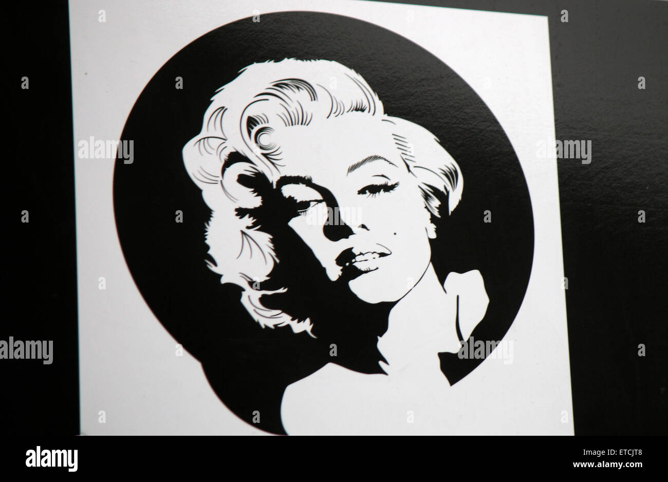 Marilyn Monroe, Berlin. - Stock Image