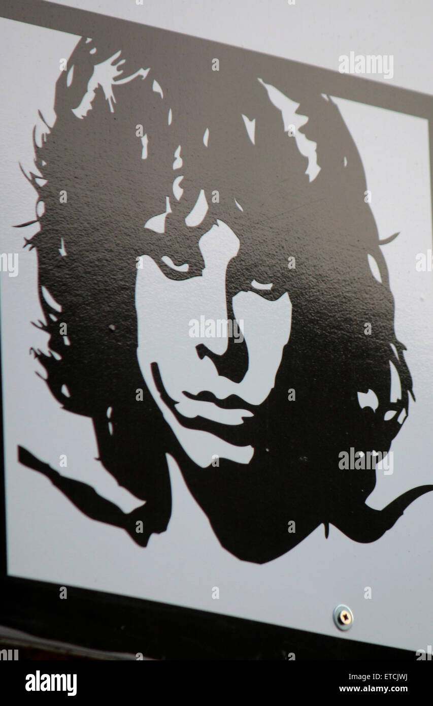 Jim Morrison, Berlin. - Stock Image