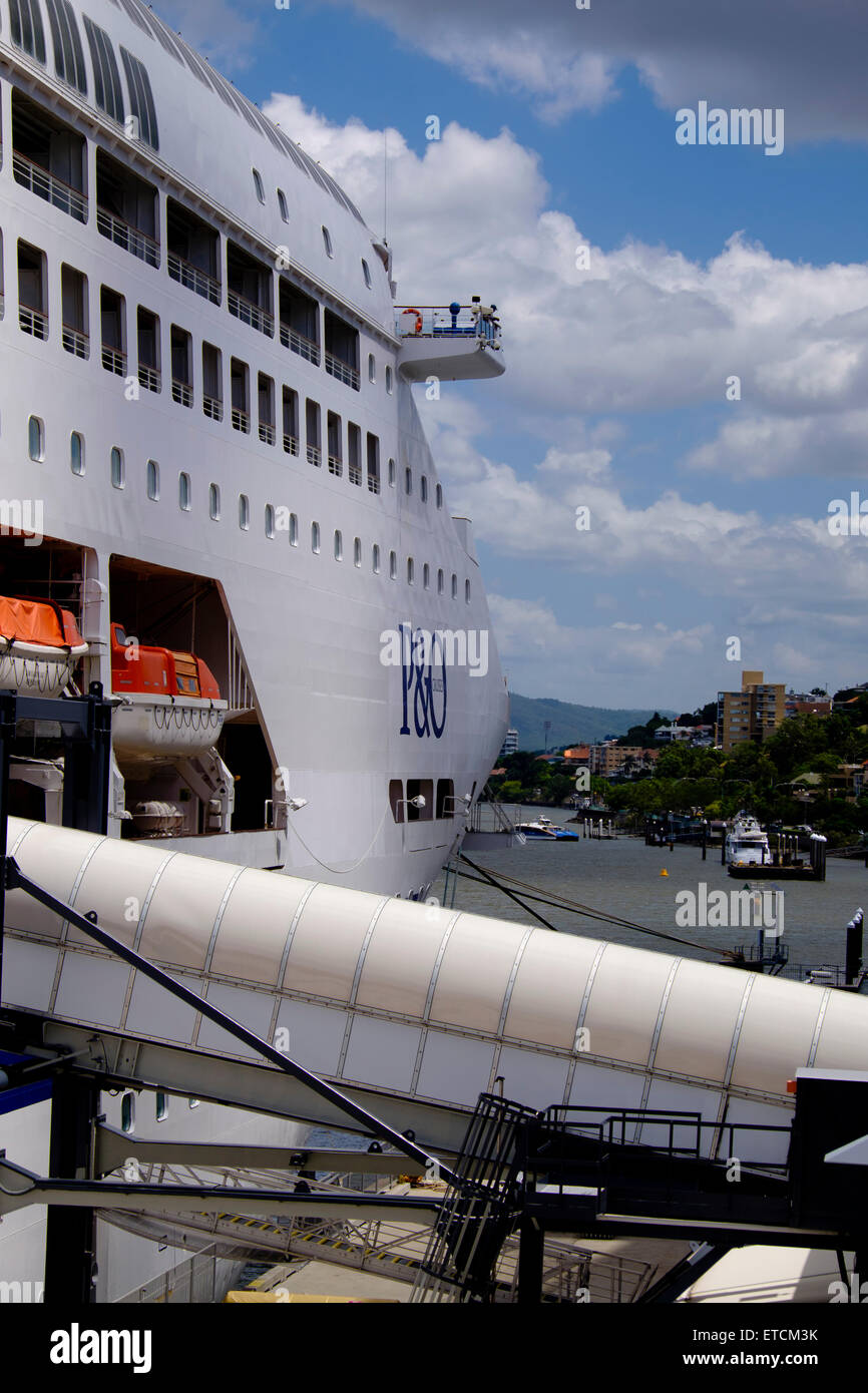 P&O 'Pacific Dawn' tied up at Portside - Stock Image