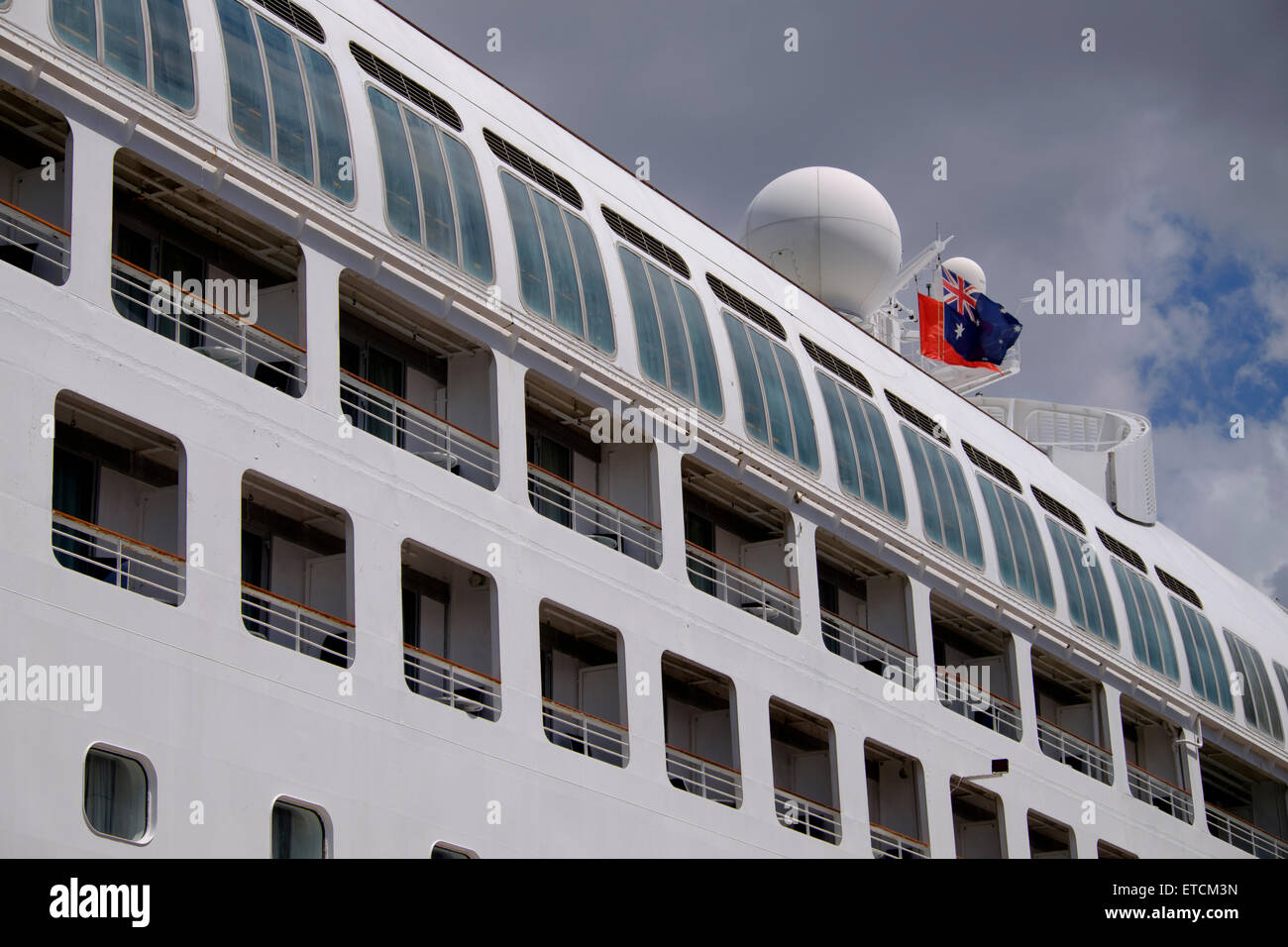 """P&O """"Pacific Dawn"""" tied up at Portside Stock Photo"""