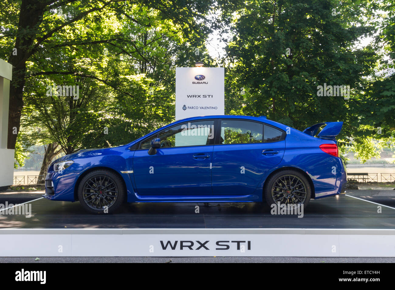 Side View Of Subaru Wrx Sti Parco Valentino Car Show Hosted 93 Cars